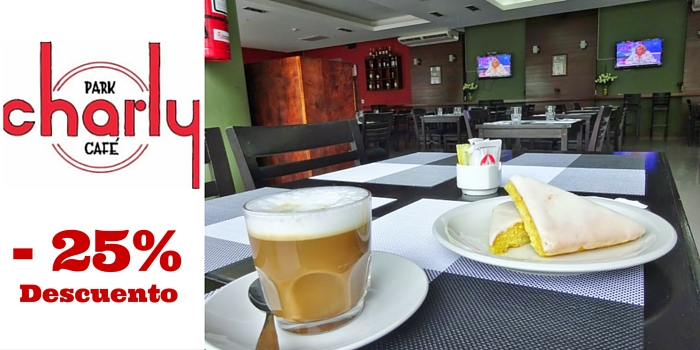 Charly Park Cafe – 25% de descuento
